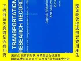 二手書博民逛書店Transportation罕見Research Record (TRR TRB ) NO.2293 2012 運