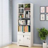 簡易書櫃書架落地置物架簡約現代臥室格子櫃組合收納櫃子小學生wy【快速出貨八折優惠】