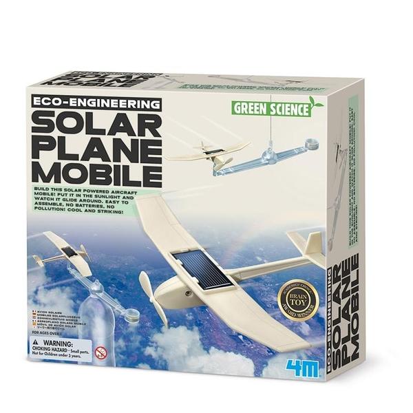 【4M】03376 科學探索-日光飛行機 Solar Plane Mobile