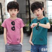 大碼兒童裝男童夏季短袖T恤2019新款中大童洋氣上衣男孩半袖體恤韓版 js26903『紅袖伊人』