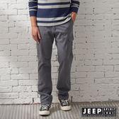 【JEEP】經典復古刷色洗舊口袋工作褲 (灰)