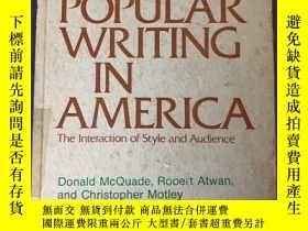 二手書博民逛書店popular罕見writing in America the