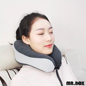 【Mr.Box】運動版 旅行用記憶頸枕(兩色可選)運動版-灰色