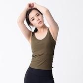 瑜珈背心-性感鏤空彈力針織無袖女運動服3色73rh19【時尚巴黎】