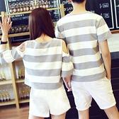 情侣装 情侶裝夏裝新款短袖T恤夏季半袖ins超火港風套裝小眾設計感春裝潮
