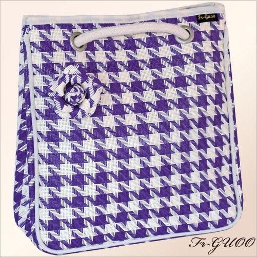 《家購網寢俱館》/法果輕時尚系列 – FRB508 編織菱格包(紫色)