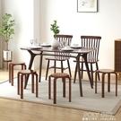北歐餐椅家用實木餐凳子現代化妝書桌用極簡約簡易休閒小椅子靠背 ATF 夏季新品