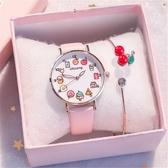 兒童手錶兒童玩具手錶女孩卡通幼兒防水防摔女童可愛中小學生指針式電子錶 JUST M