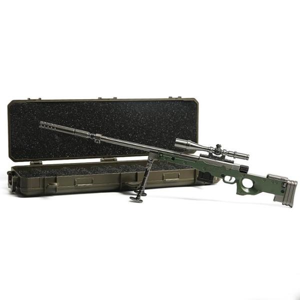 兒童吃雞玩具 加大拋殼版AWM狙擊槍金屬模型絕地M416 98K合金吃雞兒童玩具槍60c 快速出貨YJT