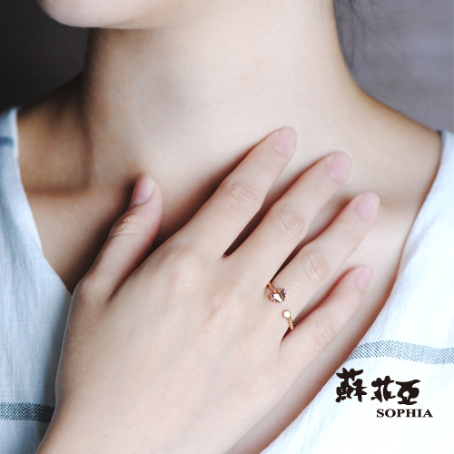 蘇菲亞SOPHIA - Romantic系列 碧璽C型鑽戒
