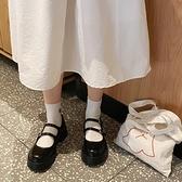 娃娃鞋 新款復古厚底黑色日系圓頭瑪麗珍小皮鞋女學院風鬆糕底 - 風尚3C