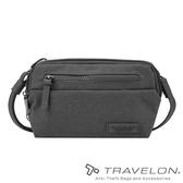 【Travelon 美國】METRO 防盜腰包 /肩背二用包『灰色』TL-43416 戶外.休閒.防盜包.安全.防割.側背包