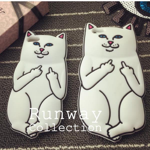 【R】創意搞怪口袋賤貓中指 s6edge 矽膠套手機殼 三星 Samsung 軟殼 保護套 A7 iphone 6