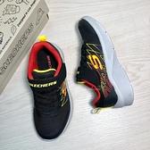 《7+1童鞋》SKECHERS 透氣輕量大底 慢跑鞋 運動鞋 D945 黑色