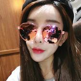太陽鏡 韓版復古大框眼鏡 情侶百搭切邊墨鏡【非凡上品】z345