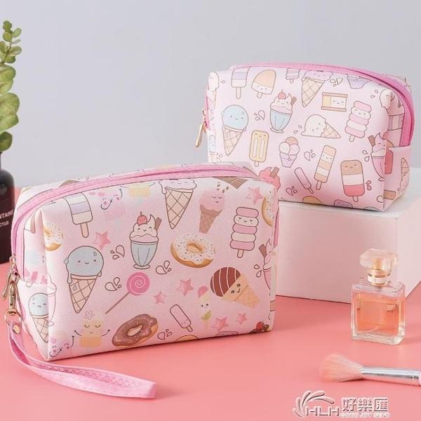 化妝包可愛日系ins風韓國小收納袋便攜大容量網紅化妝品袋女手拎 好樂匯