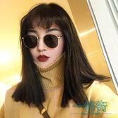 黑五好物節 原宿嘻哈風小框太陽眼鏡圓框復古女圓臉墨鏡潮【一條街】