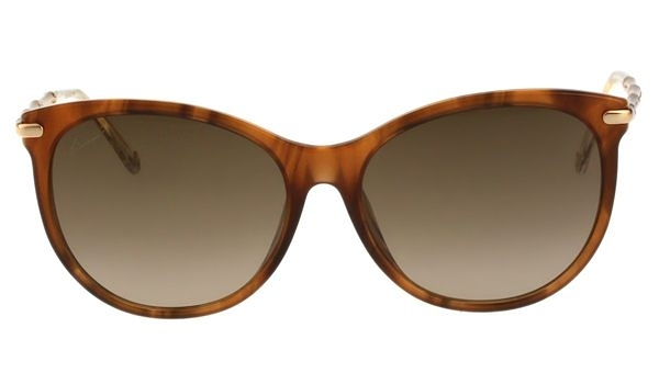 GUCCI-全智賢最新廣告款 太陽眼鏡(GG3777FS木紋色)