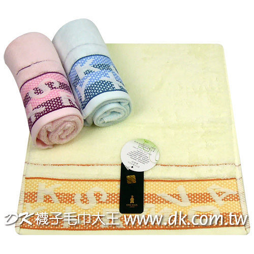 KING DUCK 緞條英文毛巾 (6條)【DK大王】
