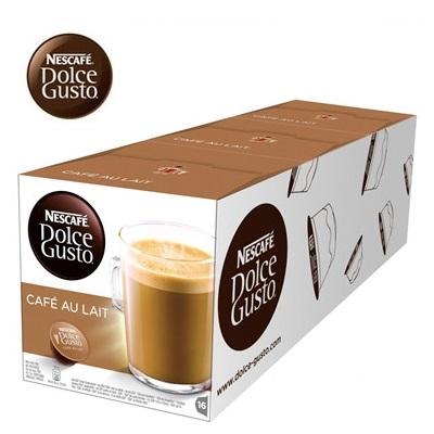 雀巢 新型膠囊咖啡機專用 咖啡歐蕾膠囊 (一條三盒入) 料號 12371070 ★咖啡與牛奶的經典搭配