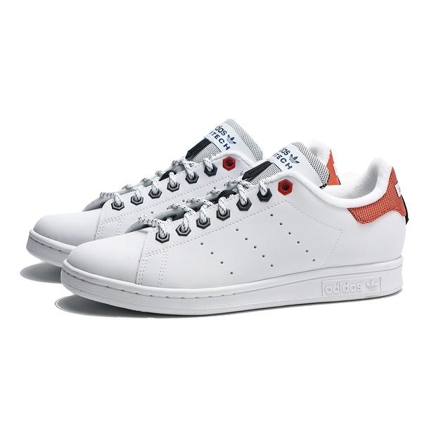 ADIDAS 休閒鞋 STAN SMITH 白 皮革 橘 刺繡LOGO 復古 男女(布魯克林) FW5249