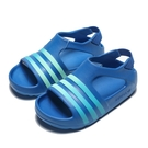 ADIDAS ADILETTE PLAY I  藍 綠 涼鞋 橡膠 小童 (布魯克林) CG6599
