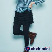 【ohoh-mini孕婦裝】層次搖逸感假二件孕婦褲