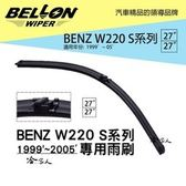 【 BELLON 】S350 雨刷 免運 贈 雨刷精 BENZ 複合式 軟骨 原廠型雨刷 27吋雨刷 哈家人