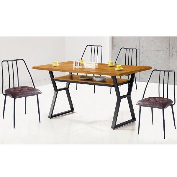 餐桌 PK-548-4 格維納4尺柚木餐桌 (不含椅子)【大眾家居舘】
