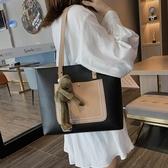 單肩包 手提單肩大包包2020新款潮大學生上課包洋氣大容量時尚女包托特包『草莓妞妞』