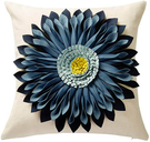OiseauVoler【日本代購】靠墊套 坐墊套 抱枕套 手工製作 3Dflower 2件套 - 藍色