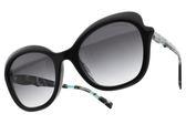 Tiffany&CO.太陽眼鏡 TF4154F 8264-3C (黑-漸層灰鏡片) 蝴蝶造型大框款 墨鏡 # 金橘眼鏡
