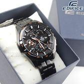 EDIFICE EFR-556DC-1A 低調沉穩計時男錶 防水手錶 日期視窗 黑x玫瑰金 EFR-556DC-1AVUDF CASIO卡西歐