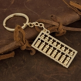 算盤一響黃金萬兩 好運鑰匙扣創意汽車鑰匙鏈掛件金屬鑰匙圈