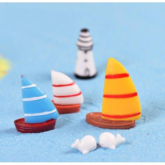 ⓒ乘浪小帆船微景觀 小船多肉植物創意微景觀【A014002】