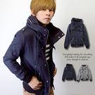 保暖厚實帥氣肩扣素色大高領外套【N945...
