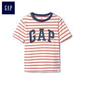 Gap男嬰幼童 Logo條紋圓領短袖T恤 467446-紅色條紋
