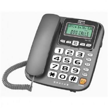 三洋 SANYO 來電顯示有線電話 TEL-832 鐵灰