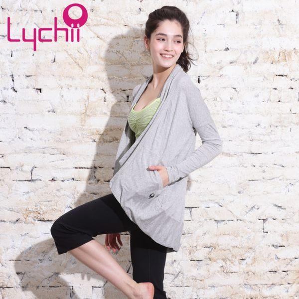 【Chi sport】運動瑜珈-都市率性寬鬆版型罩衫外套-LC3302-02