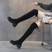 膝上靴 長靴女高跟過膝靴子2021秋冬新款瘦瘦靴厚底粗跟小個子瘦腿長筒靴【八折搶購】