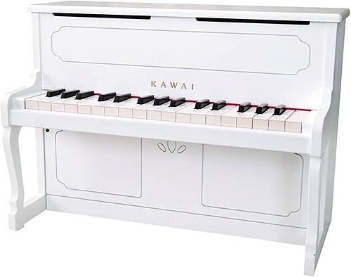 KAWAI【日本代購】河合 迷你立式鋼琴 兒童鋼琴 32鍵 日本製 1152-白色