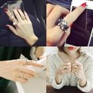 日韓潮人學生個性組合套裝戒指女韓國夸張飾品食指關節小指環尾戒【免運】