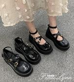 女鞋淺口圓頭學生小皮鞋原宿風洛麗塔鞋子中跟單鞋可愛少女軟妹鞋 范思蓮恩