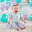 彌月禮 Baby Aspen BAS 短袖包屁衣蓬裙髮帶 套裝3件組 (禮物 禮品 送禮) - 生日派對 BA16111GN