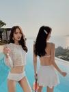 泳衣女防曬罩衫三件套性感比基尼長袖仙女範小胸聚攏游泳【新年特惠】