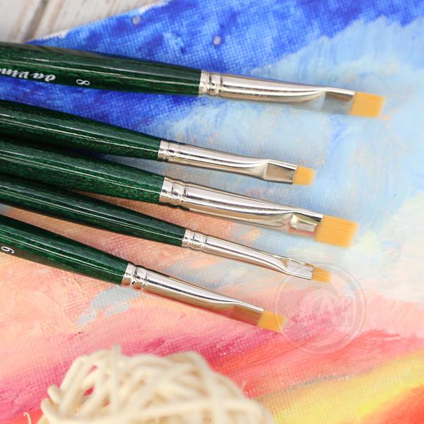 『ART小舖』Da Vinci德國達芬奇 NOVA系列 ONE STROKE 1374合成纖維 平頭短毛筆刷 2號