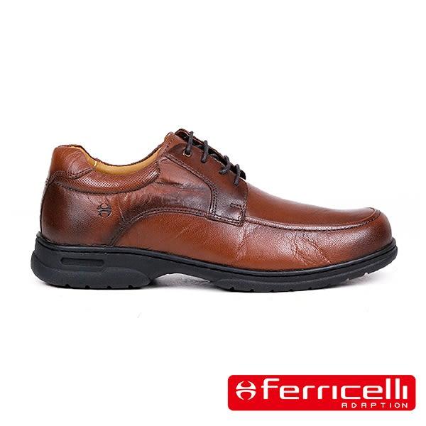 【ferricelli】Freelander神行者綁帶男仕休閒皮鞋  深咖啡(F51605-DBR)