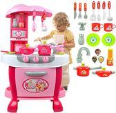 *幼之圓*新款專櫃-超大豪華感應觸控仿真粉色廚房組~粉嫩大廚房~超多功能~家家酒玩具~