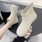 時尚雨鞋女夏防滑低筒水鞋水靴短筒雨靴洗車買菜廚房鞋膠鞋 京都3C