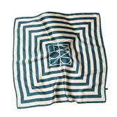 絲巾小方巾女網紅條紋頭飾字母領巾